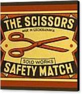 The Scissors Safety Match Canvas Print