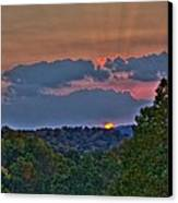 The Setting Sun Canvas Print by Shirley Tinkham