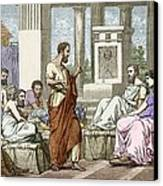 The Seven Sages Of Greece, 7th Century Bc Canvas Print by Sheila Terry