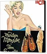 The Seven Year Itch, Marilyn Monroe Canvas Print by Everett
