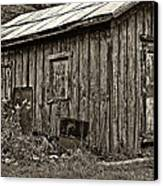 The Shed Sepia Canvas Print by Steve Harrington
