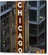 The Sign Outside The Chicago Theater Canvas Print by Paul Damien