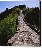 The Simatai Section Of The Great Wall Canvas Print by Raymond Gehman