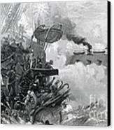 The Sinking Of The Cumberland, 1862 Canvas Print by Photo Researchers