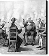 The Smoking Club Canvas Print