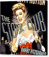 The Stork Club, Don Defore, Betty Canvas Print by Everett