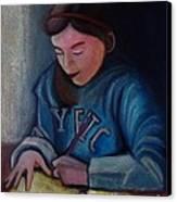 The Study Canvas Print by Kostas Koutsoukanidis
