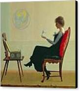 The Suitors Canvas Print by Harry Wilson Watrous