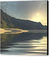 The Sun Sets On A Beautiful Canvas Print by Corey Ford