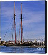 The Tall Ship Pacific Grace Based In Victoria Canada Canvas Print by Louise Heusinkveld