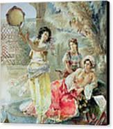 The Tambourine Canvas Print by E Raggi