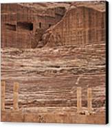 The Theater Carved Out Of A Rock Wall Canvas Print by Taylor S. Kennedy