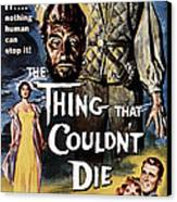 The Thing That Couldnt Die, 1958 Canvas Print by Everett