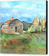 The Vacant Schoolhouse Canvas Print