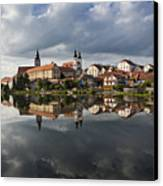 The Village From The Lake Canvas Print by Maremagnum