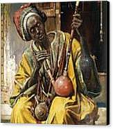 The Water - Pipe Smoker Canvas Print by Pg Reproductions