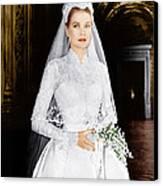 The Wedding In Monaco, Grace Kelly, 1956 Canvas Print by Everett