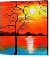 The White Sun Canvas Print by Farah Faizal