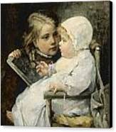 The Young Artist Canvas Print by Ellen Kendall Baker