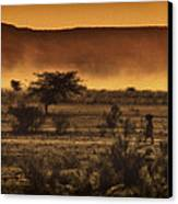 This Is Namibia No. 12 - Walking The Desert Canvas Print