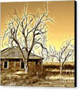 This Old House Fractal Canvas Print by Donna Greene
