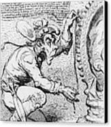 Thomas Paine Caricature Canvas Print