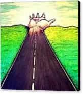 Those Who Follow The Way Canvas Print by Paulo Zerbato