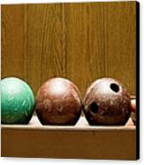 Three Bowling Balls Canvas Print