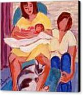 Three Generations Canvas Print