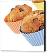 Three Muffins Canvas Print by Jane Rix
