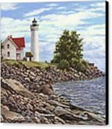 Tibbetts Point Lighthouse Canvas Print by Richard De Wolfe