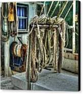 Tied Up Lines Canvas Print by Michael Thomas