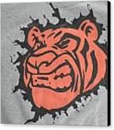 Tiger Splatter Custom Painted Crewneck Sweatshirt Canvas Print by Joseph Boyd