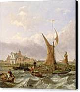 Tilbury Fort - Wind Against The Tide Canvas Print by William Clarkson Stanfield