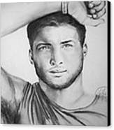 Tim Tebow Canvas Print by Madelyn Mershon