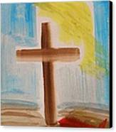 Tim Tebow's Cross-easter Monday Canvas Print