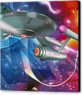 Time Travelling Spacecraft, Artwork Canvas Print