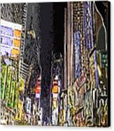 Times Square Abstract Canvas Print by Robert Ponzoni
