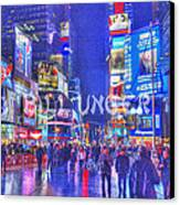 Times Square Canvas Print by Bill Unger