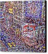 Times Square Canvas Print by Marilyn Sholin