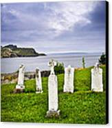 Tombstones Near Atlantic Coast In Newfoundland Canvas Print by Elena Elisseeva