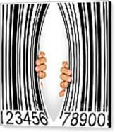 Torn Bar Code Canvas Print by Carlos Caetano