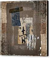 Torn Papers On Wall Number 3 Canvas Print by Carol Leigh