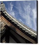 Toshodai-ji Temple Roof Gargoyle - Nara Japan Canvas Print by Daniel Hagerman