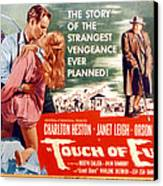 Touch Of Evil, Charlton Heston, Janet Canvas Print by Everett