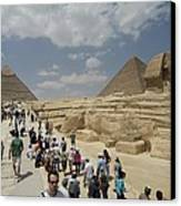 Tourists View The Great Sphinx Canvas Print