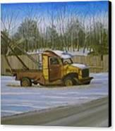 Tow Truck On Burgoyne Ave. Canvas Print by Mark Haley