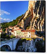 Town Of Sisteron In Provence France Canvas Print