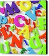 Toy Letters Canvas Print by Carlos Caetano