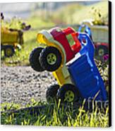 Toy Truck Planters Canvas Print by Gordon Wood